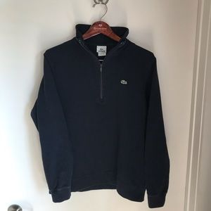 Lacoste 1/4 Zip Pullover in Navy Blue
